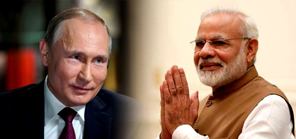 Prime Minister Mr. Narendra Modi congratulatory call to President Putin on victory in the Presidential elections