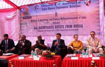 Suratgarh saw the presence of Mr Sergey Beletskiy, Russian Deputy Minister of Agriculture, Shri Gajendra Singh Shekhawat, MoS for Agriculture & Farmers Welfare, and Russian & Indian delegations celebrating 70 years