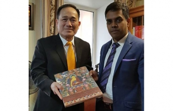 Consul General of India in Vladivostok Mr. Shubham Kumar called on Consul General of Socialist Republic of Vietnam in Vladivostok Mr. Huynh Minh Chinh and discussed 4th International Day of Yoga and other areas of mutual cooperation.