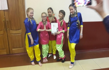 """The Studio of Indian dance """"Paheli"""" won the 1st prize in the nomination Indian dance junior group at the 14th regional festival the """"Star of the East""""."""