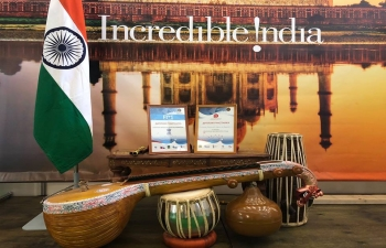 Consulate General of India in Vladivostok was awarded the first prize for the best pavilion in PITE 2018.
