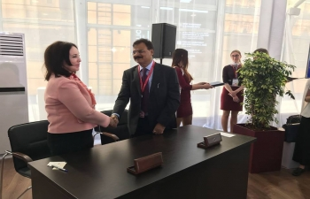 The Sister-City Agreement between State of Assam and Sakhalin was signed on May 26, 2018 at St. Petersburg International Economic Forum (SPIEF) - 2018