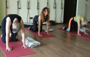 "CGI Vladivostok organized Yoga master class with the support of ""Sarasvati"" Yoga Studio."