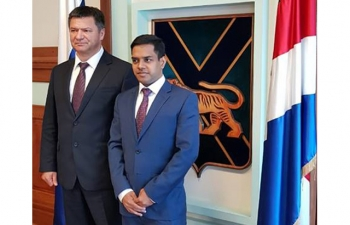 Consul General Mr. Shubham Kumar held official meeting with Acting Governor of Primorye Region Mr. Andrey Tarasenko.