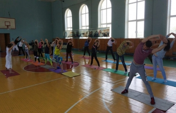"The Consulate General of India in Vladivostok, with the support of the Maritime State University and Yoga Studio ""Airavata"" organized a yoga master class on the eve of the International Yoga Day 2018"