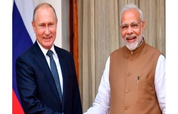 Prime Minister of India Narendra Modi and President of Russia Vladimir Putin had a telephone conversation on January, 7.