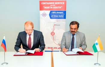 Major railway container operator in India CONCOR and RZD Logistics signed a Memorandum of understanding in Moscow.