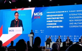 Defence Secretary Mr. Sanjay Mitra spoke about India's contribution to U.N. Peacekeeping operations at the 8th Moscow Conference on International Security, MCIS-2019 on 25th April.